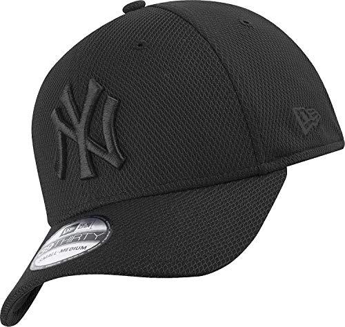New Era New York Yankees - 39thirty Flexfit Cap - Stretch Diamond - Black - XS-S