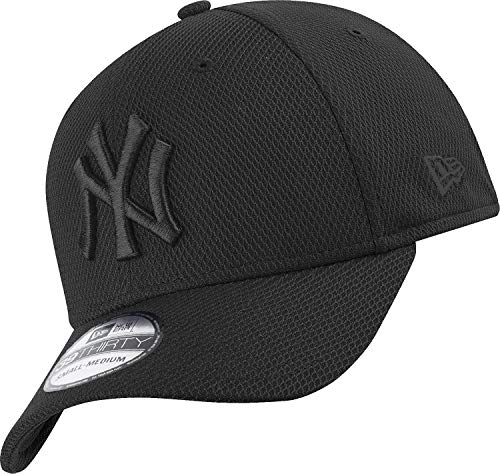 Unterdrückt New Era - New York Yankees - 39thirty Flexfit Cap - Stretch Diamond - Black - M - L