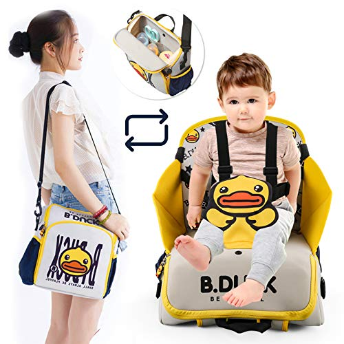 2 in 1 Portable Traveling Dining Chair Bag-Diaper Bag, Bottle Backpack