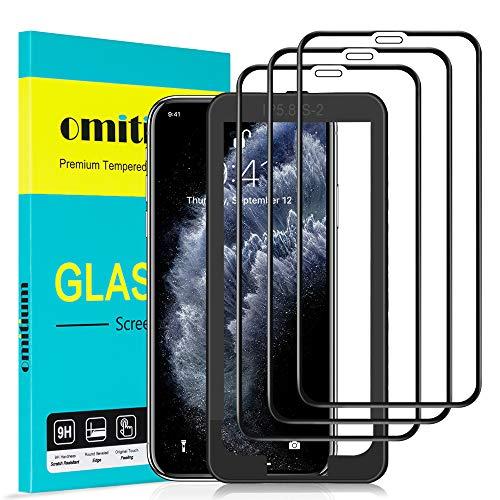 omitium Pellicola Vetro Temperato per iPhone 11 PRO/XS/X, [3 Pezzi] Copertura Completa iPhone XS Pellicola Protettiva [Cornice di Allineamento] 9H Durezza Protezione Schermo iPhone 11 PRO - 5,8''