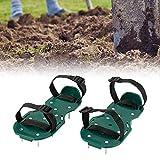 N/U Aireador de Césped Zapatos de Uñas Escarificador de Césped Zapatos de Uñas con 2 Correas Ajustables para el Patio de Césped/jardín