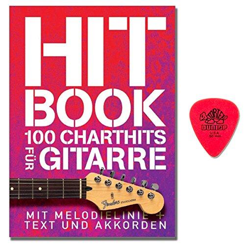 Hit Book - 100 Charthits für Gitarre - Songbook mit Melodielinie und Akkorden, dazu als Text mit Akkorden