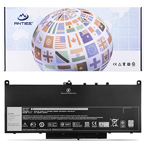 New J60J5 4-Cell Laptop Akku für Dell Latitude E7270 E7470 P61G001 Series Notebook P26S P26S001 0MC34Y J6OJ5 NJJ2H R1V85 451-BBSX 451-BBSY 451-BBSU 242WD 1W2Y2 GG4FM WYWJ2 7.6V 55WH