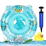 MHwan Babyschwimmring, Schwimmringe, Karton Elefant, Baby Pool Float Ringsitz mit schwimmenden Sicherheitsgriffen Hand pumpe Entenspielzeug, 3 Stück