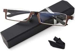 Reading Glasses Half-Frame Computer Readers for Men and Women +1.5 Anti-blue Lightweight Quality Spring Hinge Eyeglass