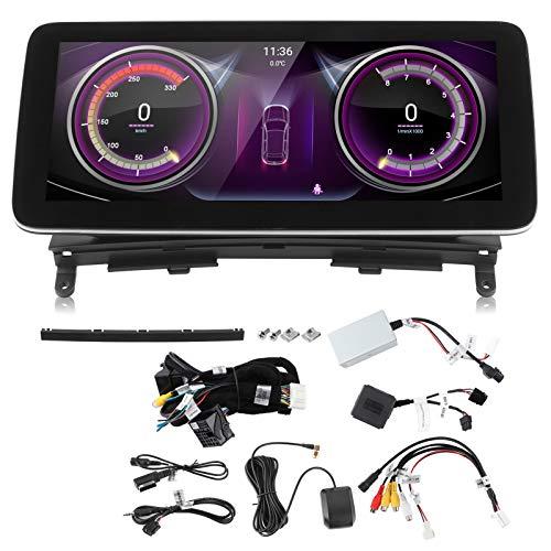 Navegador GPS, Reproductor de audio y video BT Sistema de navegación con pantalla táctil Estéreo para automóvil Radio FM 10.25 pulgadas Ajuste para CL203 W203 W204 2007-2010(PX6 (4 + 64G))