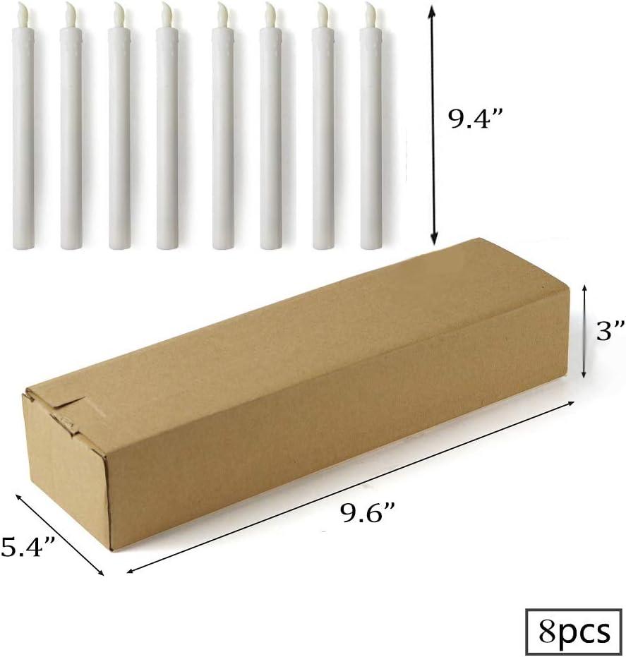 24cm Taille du Chandelier 5.5 Bougies /à LED sans Flamme Bougie /électronique avec Amovible Chandelier Lot de 8 Longue Bougies de Chandelier 7cm LED Bougie 2.26