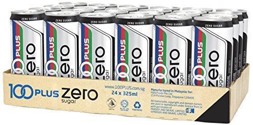 100 Plus Zero Sugar, 325ml, (Pack of 24)
