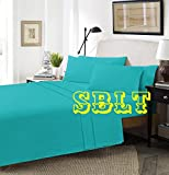 <span class='highlight'>SBL</span> <span class='highlight'>Trendz</span> Flat Sheets Polycotton Non Iron Easy Care Pillow Cases Sold Separately (Single, Teal)