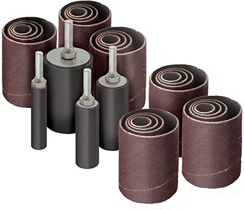 28pk Sanding Drums and Sleeves Set for Drill, 2 inch Long