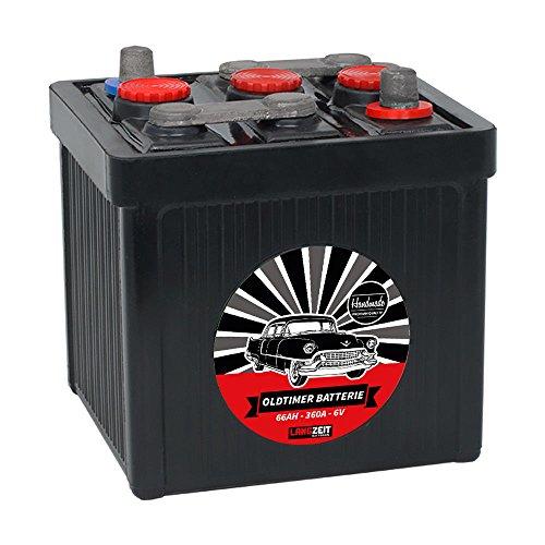 LANGZEIT Original Handarbeit 6V Oldtimer Batterie 66Ah 77Ah 84Ah Handmade (6V 66Ah)
