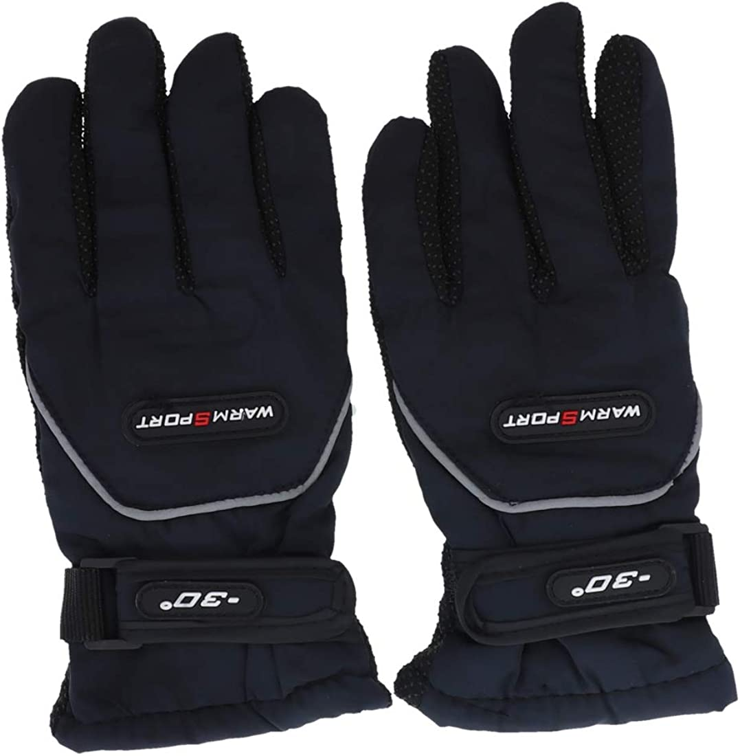 Boys Black Bec-Tech® Fleece Sport Winter Snow Gloves Waterproof Windproof #37147
