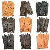 Prime Men Classic Cow Nappa Leather Winter Summer Driving Dress Gloves Fashion Motorbike in Ten (7012-Tan, L)