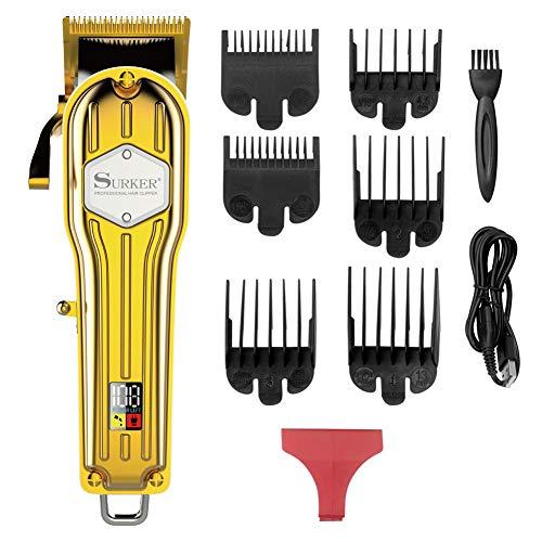 SURKER Haarschneider Bart Trimmer Haarschneidemaschine für Herren Haartrimmer Haarschneider Nasentrimmer Bartschneider Bodygroomer Netz-/Akkubetrieb langlebige Wireless Leise