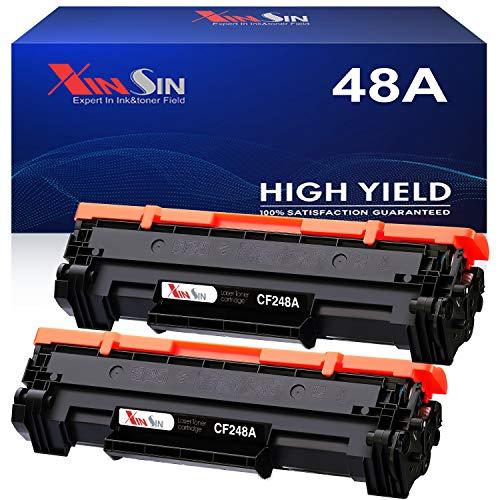 XINSIN Compatible 48A CF248A Black Toner Cartridges Replacement for HP Laserjet Pro MFP M15w M28w M29w M30w M31w M15a M16a M28a M29a Printer, 2-Pack