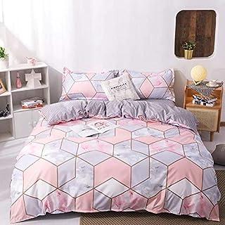 DEALS FOR LESS- Single Size Bedsheet, 4 piece Duvet Cover Bedding Set, Marble Design.