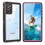 Galaxy Note 20 Waterproof Case 5G, Shockproof Shatterproof Note 20 Case with Screen Protector, 360 Protective Full Body Shell Underwater Cover for Samsung Galaxy Note 20 (6.7',2020 Pink)