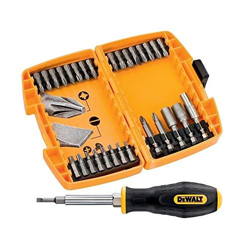 DeWalt DT71506-QZ - Juego de 30 piezas en estuche tipo Tough Case para atornillar.Puntas de atornillar de 25mm, portapuntas magnético, llaves de vaso 8y10mm, puntas de 50mm: Ph2, Pz2 y destornillador.