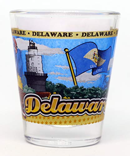 Delaware State Wraparound Shot Glass