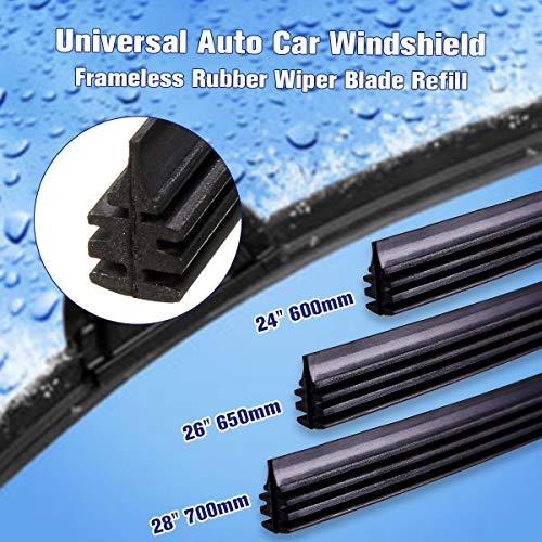NO LOGO ZWQ-Spring Universal-28 700mm Gummi Frameless Scheibenwischer Streifen Wischerblätter for Auto, Bus, Van Truck Soft Rubber (Farbe : Pair 28inch)