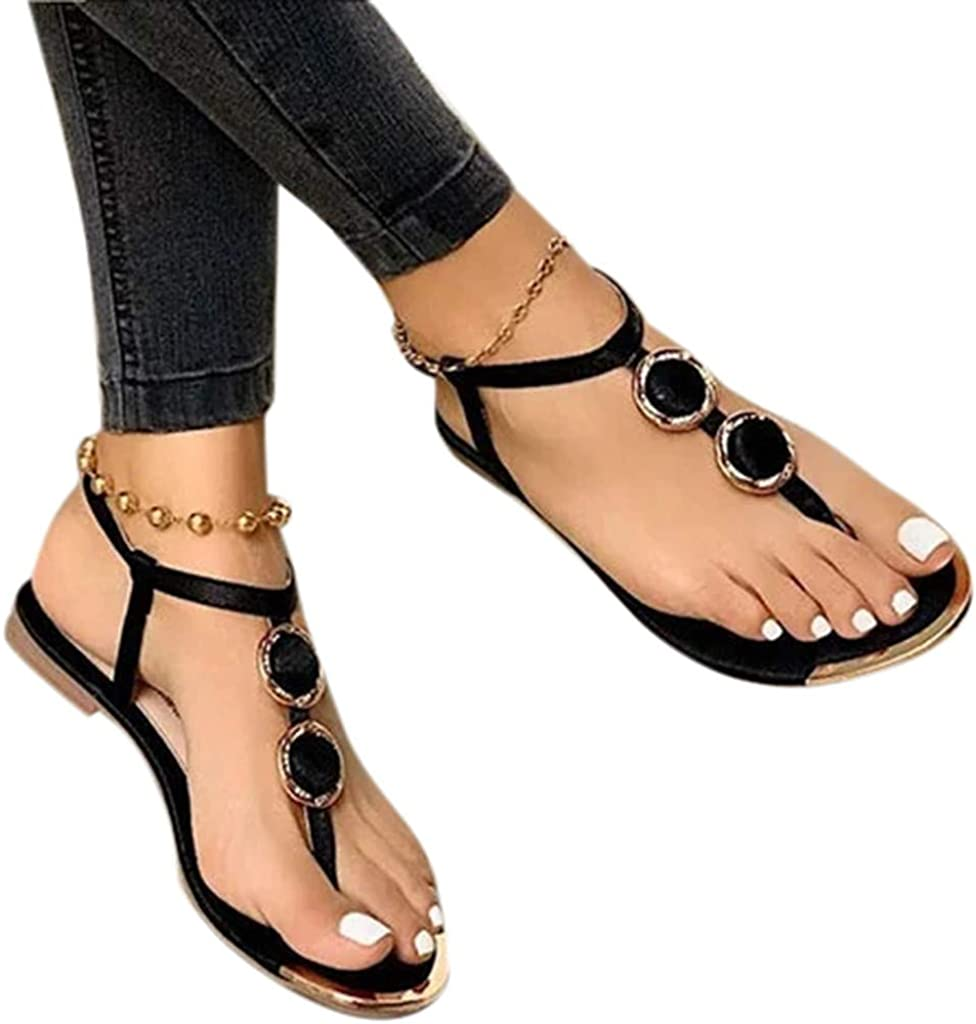 Sandals for Women Flat, Crystal Butterfly Flip Flops Sandals Casual Shoes for Summer Beach Holiday