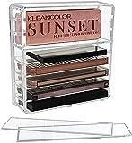 Discoball - Organizador de acrílico para paletas de sombras de ojos, maquillaje y cosméticos, con 8 secciones ajustables