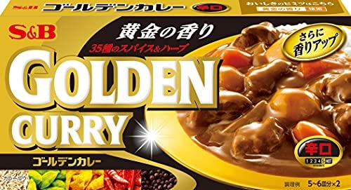 エスビー食品 ゴールデンカレー辛口 198g