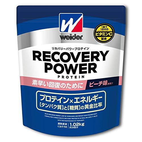 ウイダー リカバリーパワープロテイン ピーチ味 1.02kg (約34回分) 運動後の回復 ビタミンC配合 グルタミン...