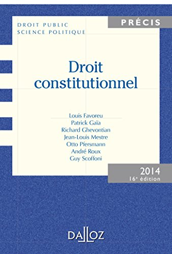 Droit constitutionnel - 16e éd.