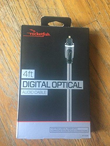 Rocketfish Digital Fiber Optic Audio Cable - 4 feet 1.2M Bulk Pack