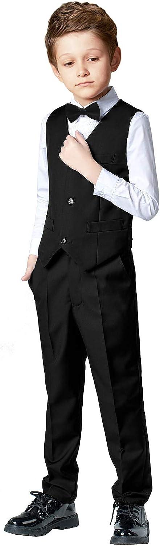 SaiLiiny Boys 4 Pieces Suits Slim Max 60% OFF Vest ! Super beauty product restock quality top! Fit Bl Sets Black Outfits