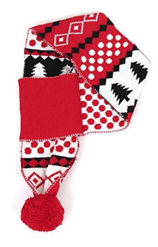 Animate Sneeuwvlok Menselijke Sjaal, Rood/Zwart