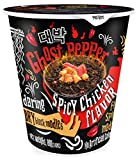 Daebak Ghost Pepper Spicy Chicken Black Noodles, 2.82 Ounce (Pack of 6)