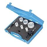 Silverline 273220 - Juego de coronas bimetal para electricistas, 9 pzas 18-51 mm