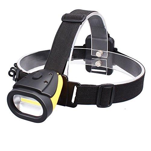 Ustellar Torcia Lampada Frontale LED, 300LM, 3 modalità, Impermeabile per Campeggio Escursionismo Lettura (Batteria Non Inclusa)