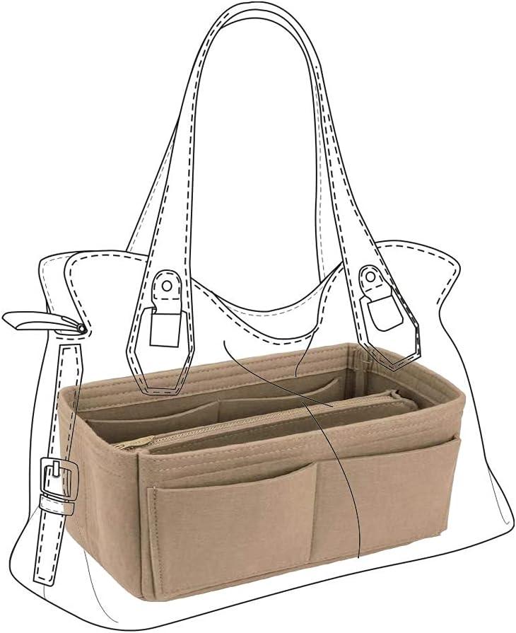 Longwu Purse Chicago Mall Organizer Women's Felt Cosmetic Organizers Now free shipping Handbag