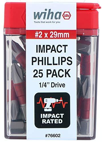 Wiha 76602   Terminator Impact Insert Bit Phillips #2-25 Pack