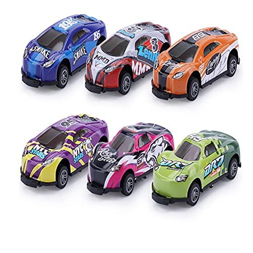 DFDHB Jumping Stunt Toy Car PequeñO,Coches Juguete para NiñOs,RotacióN Volteo De 360°,Impacto Tirar hacia AtráS Coche ExpulsióN Modelocoche Mini Coche 9 * 4 * 3cm 6pcs