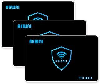 NFC/RFID Blocking Cards - 3 Pack, Contactless NFC Debit Credit Card Passport Protector Blocker,Anti Skimming Card, Anti-Th...