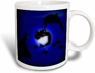 3dRose mug_111082_3 Mermaid Playing with Dolphins Magic Transforming Mug, 11-Ounce