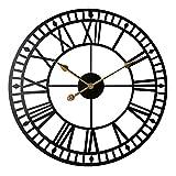 Reloj con números Romanos, Reloj Colgante de Pared con Arte de Hierro, Metal silencioso, decoración de Pared para decoración del hogar