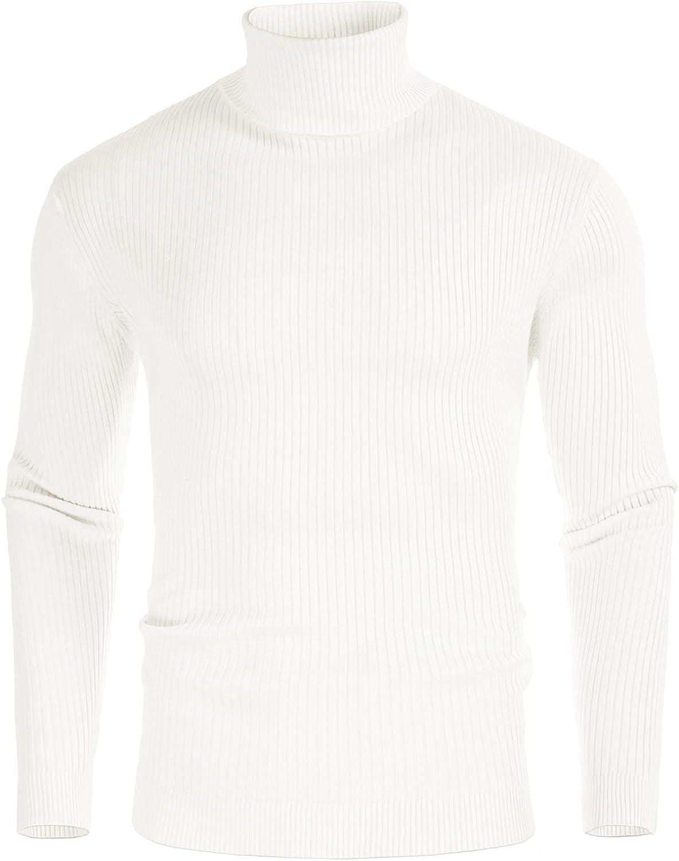 Paul Jones Men's Slim Fit Turtleneck Soft Knitted Long Sleeve Pullover Sweaters