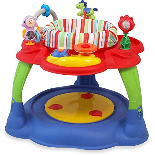 Babymix Activity Center Purple/Red Speeltafel Met Trampoline