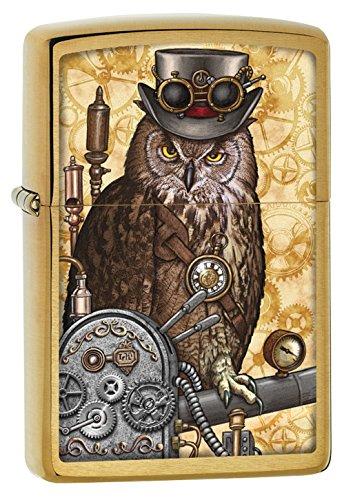 Zippo Steampunk OWL Feuerzeug, Chrom, Gold, One Size
