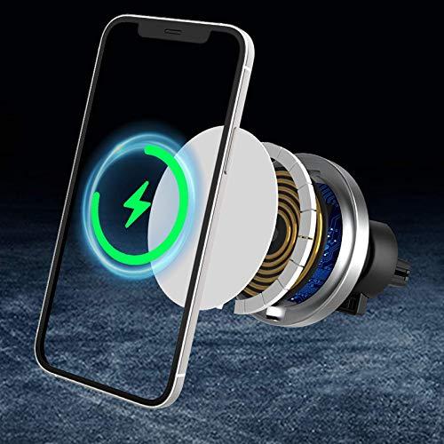 Aplicable al soporte para teléfono móvil Apple 12 para automóvil, soporte magnético para teléfono móvil, cargador inalámbrico magnético, imán fuerte de 15 W