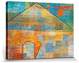 Paul Klee Stretched Canvas Print - Ad Parnassum, 1932 (32 x 24 inches)