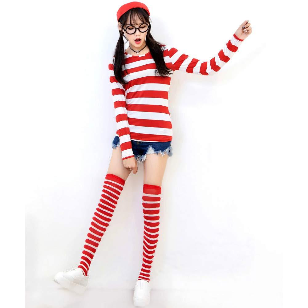 Disfraz de Wally para Hombre Mujer Niños, Unisex Wheres Wally ...