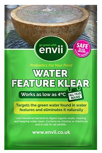 Envii Water Feature Klear - grüner Wasserreiniger und -entferner für Springbrunnen und Springbrunnen - bei bis zu 4 ° C verwenden - 12 Tabletten