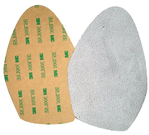 Stick-on suede soles for high-heeled shoes, with industrial-strength adhesive backing. Resole old dance shoes or convert your favorite heels to perfect dance shoes. [SUEDE-LA-gray-r01]