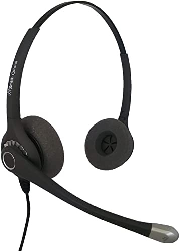 wholesale SC Ultra Duo Noice Canceling Headset new arrival with 2.5mm Bottom Cord - Can use on Any Desk Phone That online has a 2.5mm Headset Port on it outlet sale